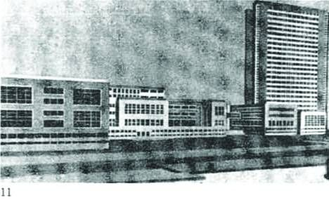 H. Oderfeld, S. Syrkus, competition project for the building of the League of Nations in Geneva (1927)