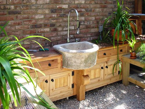 Potting Shed at Augusta Residence - traditional - garage and shed - atlanta - CHEATHAM FLETCHER SCOTT ARCHITECTS