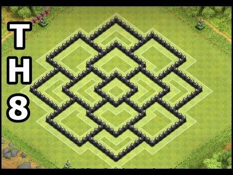 Clash of Clans Town Hall 8 War & Trophy Base   Best CoC TH8 4 Mortars War Base Design by GameDiceHD - YouTube
