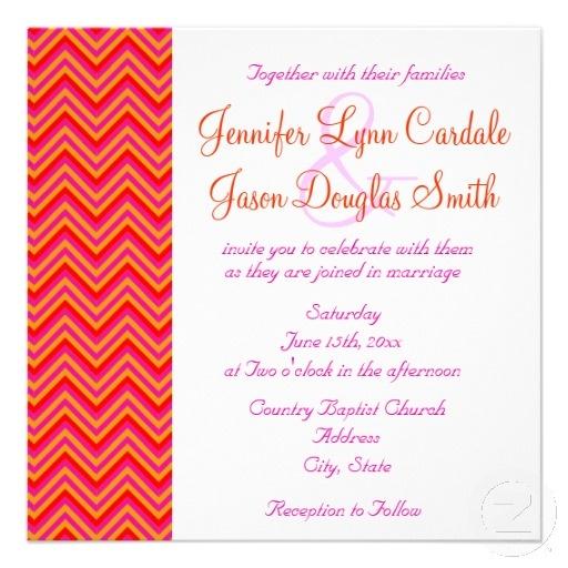 Pink Orange Wedding Invitations: 49 Best Hot Pink And Orange Wedding Invitations Images On
