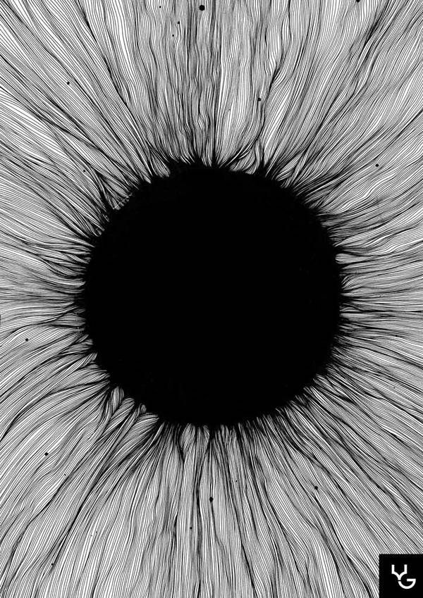 This picture looks likek an eye but I think it may be ink on a sheet of paper however the photo doesn't show the full picture so that leaves the mind to think what it wants to think.