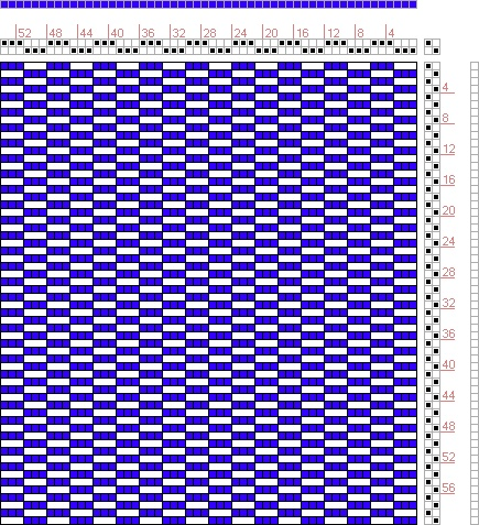 Hand Weaving Draft: Figure 1549, A Handbook of Weaves by G. H. Oelsner, 2S, 2T - Handweaving.net Hand Weaving and Draft Archive