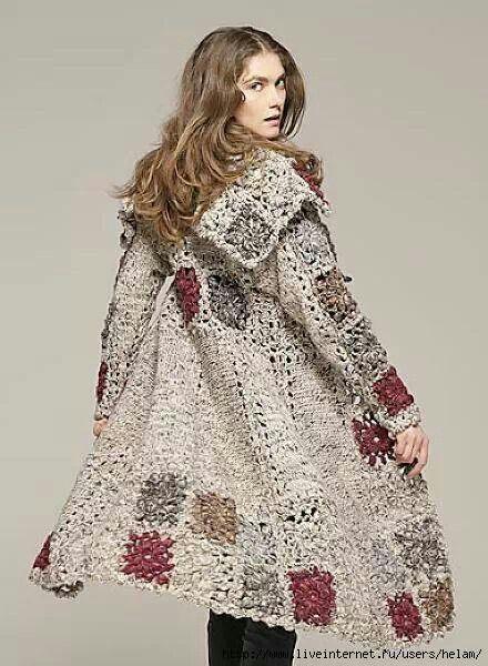 Crocheted coat
