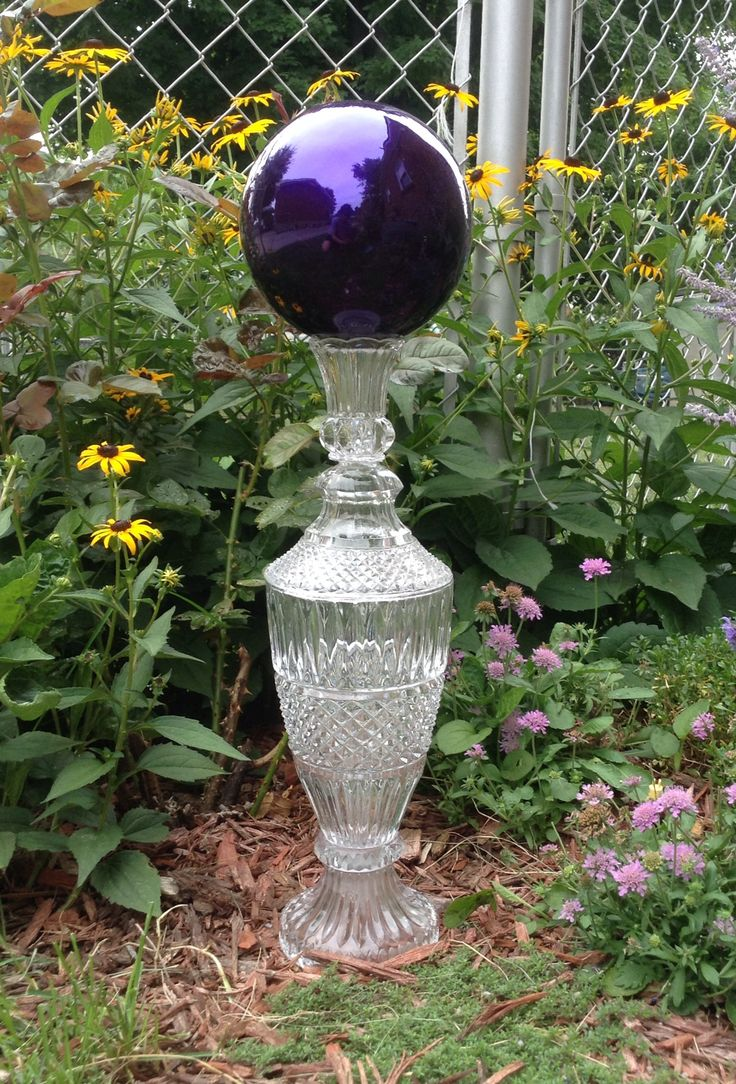 Mirror Ball Stand Made Out Of Recycled Pressed Glass All Pieces Are Secured  With An All