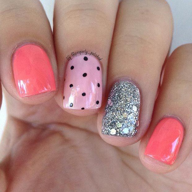 Cute Summer Nail Design for Short Nails