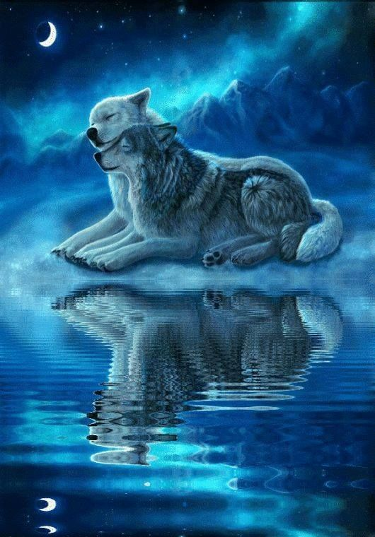 Pin by Dodge on Wolven Wolf painting Wolf spirit animal