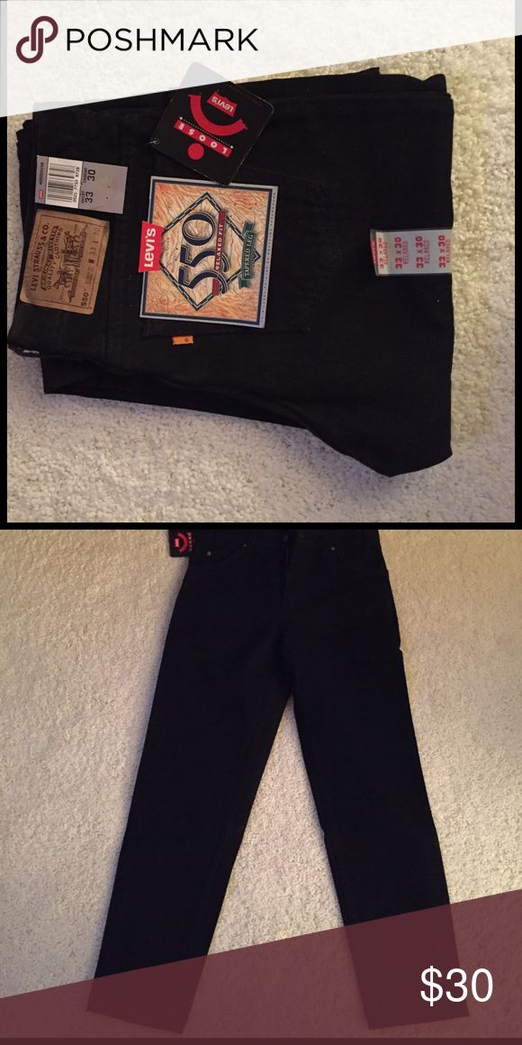 Levi 550 jeans Black Levi 550 jeans. Relaxed fit, tapered leg. 33x30. Levi's Jeans Relaxed
