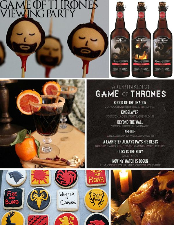 Game of thrones viewing party ideas craving creations for Game of thrones birthday party