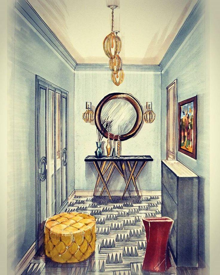 Innenarchitektur skizze cafe  26 besten Interior Design// Coloring Bilder auf Pinterest