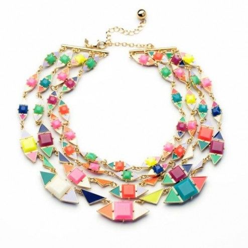 2014 Women Candy Colors Multilayers Necklace  $29.98