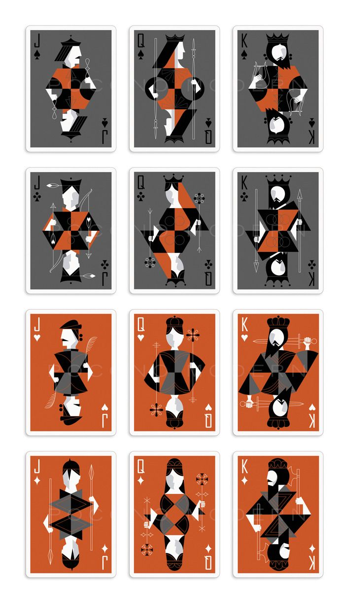The Retro Deck - Playing Cards by Pocono Modern by Kraig Kalashian — Kickstarter