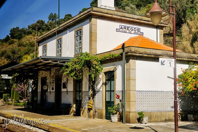 Azulejos Along The Douro Railway - via  ImageLegacy, Gail at Large 25.08.2014 | When visitors to Portugal ask me what sort of locally-made products would make good souvenirs, I make a point of suggesting azulejos, or Portuguese ceramic tiles. To me, they represent Portugal very well in terms of cultural value, artistic variety, their place in preserving Portuguese history, and their prevalence throughout the country. Photo: Caldas de Aregos Railway Station, Portugal