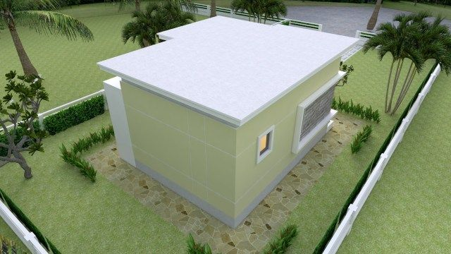 House Design Plans 18x21 3 Feet With One Bedroom Flat Roof Sam House Plans In 2020 Home Design Plans One Bedroom Flat Flat Roof House
