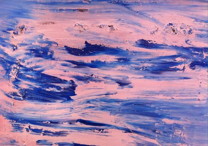 Graça LIsboa (1955), Mar Revolto 2004 Acrilico s/Tela (80X100cm) Col Particular, Barreiro
