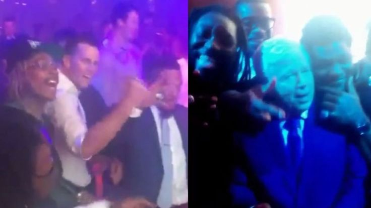 And there was a Migos dance-off. And Robert Kraft dancing. And Gronk.