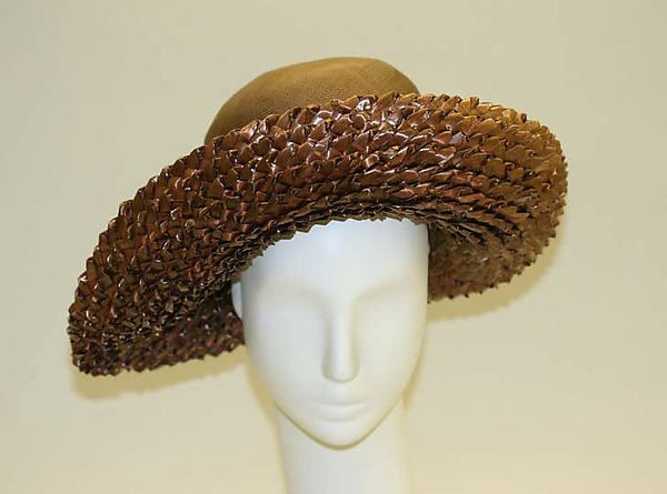 Hat, Lord & Taylor (American, founded 1826), straw, British ca. 1946