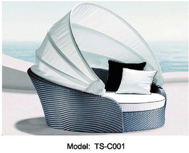 Lit de jour en osier plein air modulaire dim. salon. pouf meubles en rotin table de réglage