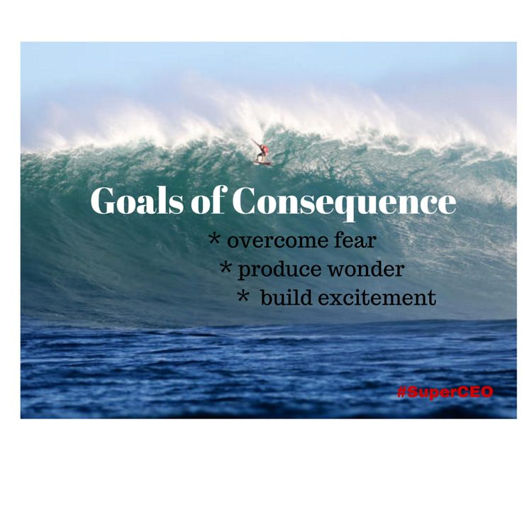 As part of the SuperCEO Performance Operating System we focus on developing Goals of Consequence. These goals require us to overcome fear and build the right level of courage. We see this passion amongst the big wave surfers riding waves at the Pe'ahi Challenge 2015 in Hawaii. Photo credit to WSL/Kelly Cestari.