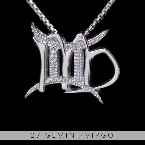 27 Gemini and Virgo Silver Unity Pendant by UnityDesignConcepts, $99.99
