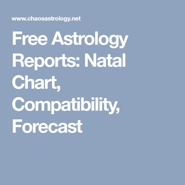 Free Astrology Reports: Natal Chart, Compatibility, Forecast