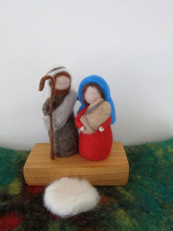 Hey, I found this really awesome Etsy listing at http://www.etsy.com/listing/160454330/needle-felted-nativity-set-holy-family
