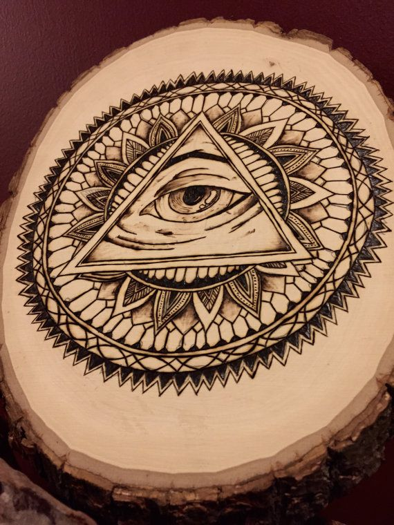 Third Eye Mandala Wood Burning All Seeing Eye by BurningHeARTs