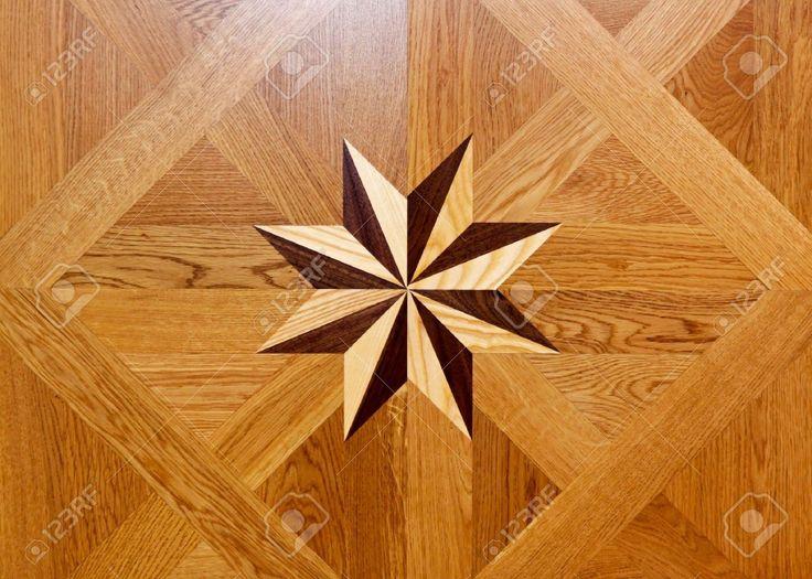 Forma de estrella de marqueter a de madera en el parquet - Madera para marqueteria ...