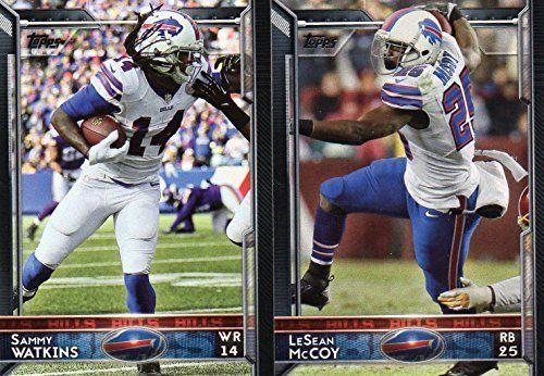 Buffalo Bills 2015 Topps NFL Football Complete Regular Issue 18 Card Team Set Including Sammy Watkins, Lesean McCoy, Mario Williams Plus