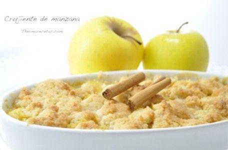 Facilísimo crujiente de manzana para los paladares más exquisitos