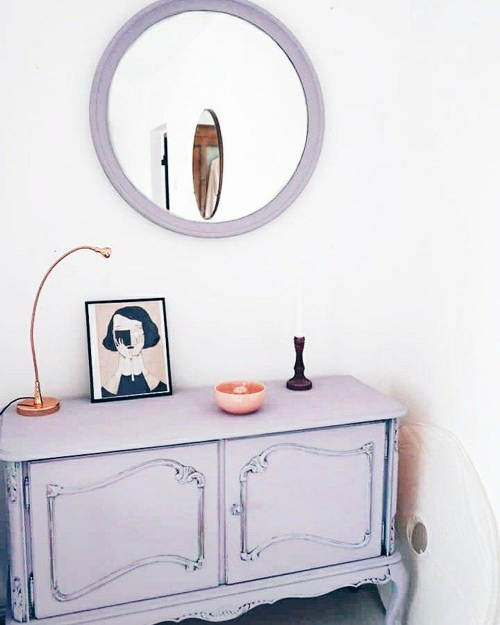 Home decor.Dusty lavender decor.Old chest.Lavender chest.Annie Sloan Chalk Paint.Emile chalk paint.