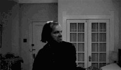 scary Black and White creepy horror dark darkness black and white gif spooky The Shining Stephen King jack nicholson horror movie heres johnny the shining gif horror blog looped gif