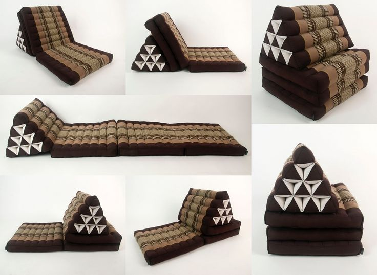 Leewadee Foldout Triangle ThaiCushion FloorSeat with