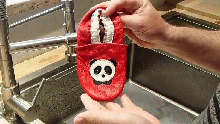 Entretien des chaussons en cuir souple