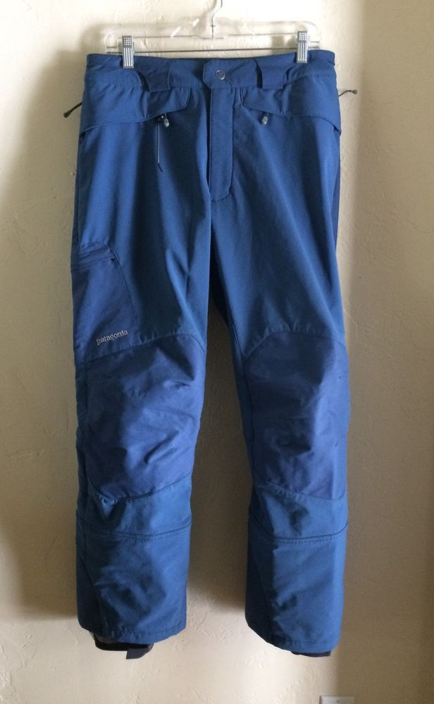 $199 Men's Patagonia blue insulated Ski Pants size M 32x30 | eBay - $49.99 + shipping