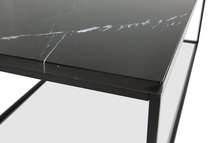 Carrie Soffbord Svart Marmor/Svart 120x60x45 cm -  | Trademax.se