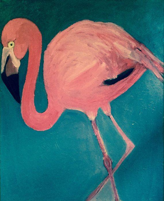 Fenicottero arte ON vendita Flamingo stampa dalla pittura