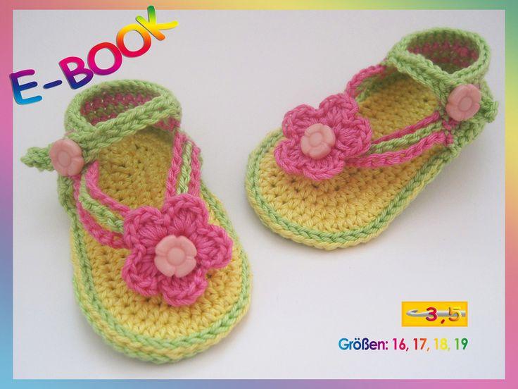 10 best Baby Sandalen häkeln images on Pinterest | Sandalen häkeln ...