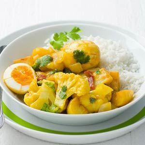 Recept - Curry van bloemkool, aardappelen en eieren - Allerhande