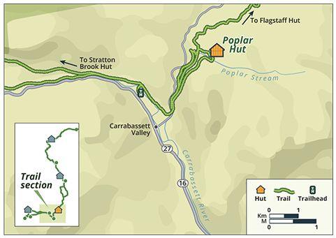 Kingfield Maine Map.Poplar Hut To Hut Hiking In Kingfield Maine Huts Trails Trail
