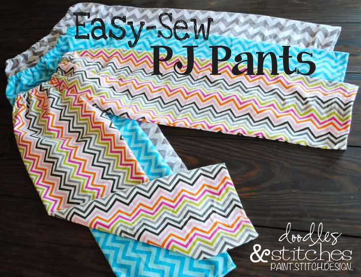 PJ pants tutorial