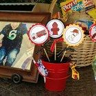 Fire Fighther Themed Party Centerpieces
