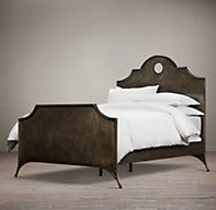 19th C. Keyhole Metal Arch Bed