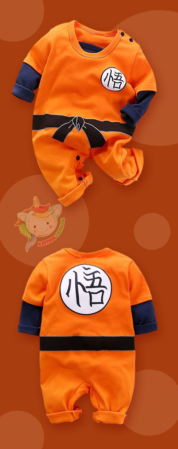 Cute Goku Newborn Baby Boys Girls Clothes Infant Toddler Long Sleeve Romper Jumpsuit Outfits.
