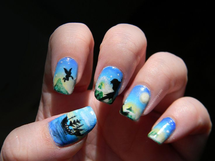 Disney Peter Pan Nail Art Manicure