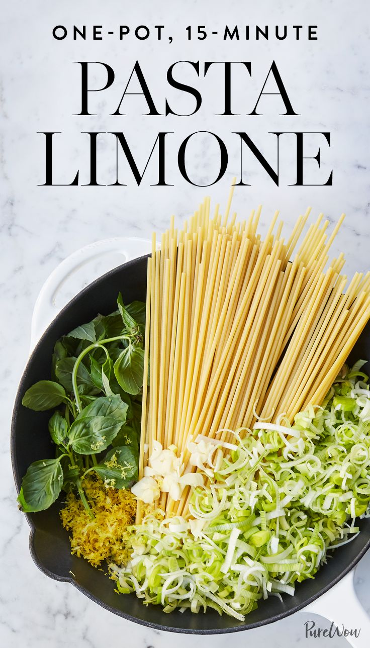 Get the recipe for this delicious one-pot, 15-minute pasta limone.