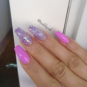 30 Casket Nails For Day And Night Outs | Casket Nail Designs - Part 2