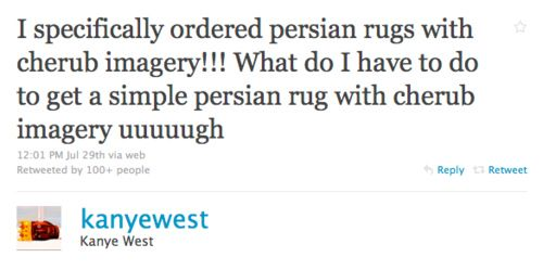 A link to some of the best Kanye West tweets, because I need to go back and re-read these periodically.