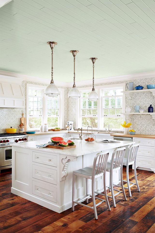 Love The Mosaic Tile Backsplash In The White Country Kitchen.   Pined By  Www. Part 49