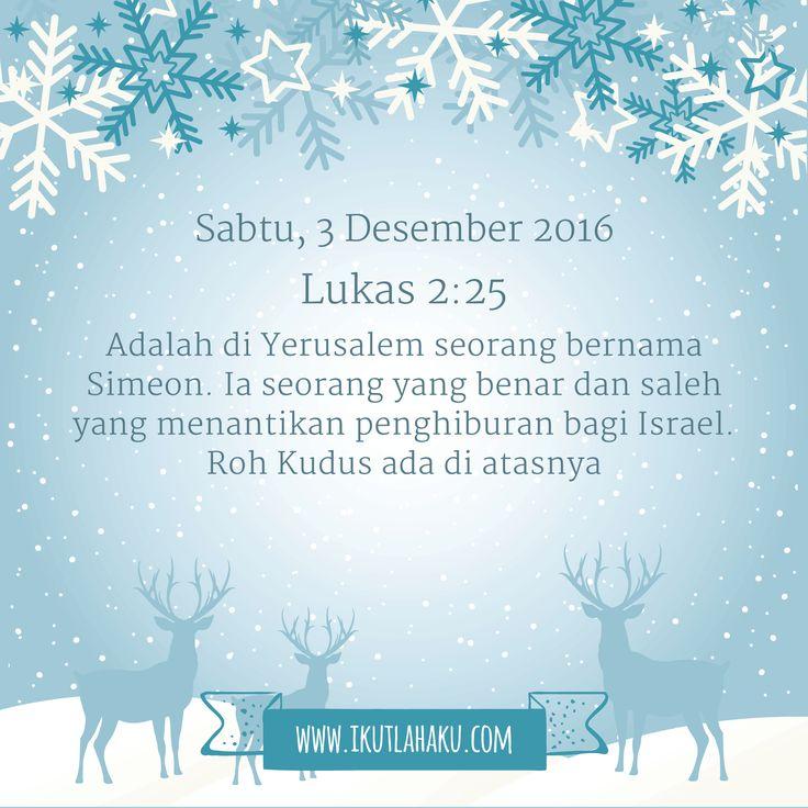 Renungan Hari Sabtu 3 Desember 2016