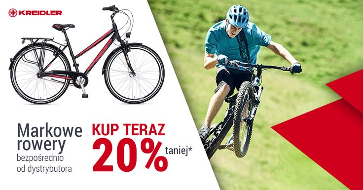 CHWYTAJ OKAZJĘ Z KREIDLEREM! W związku z ogromnym zainteresowaniem naszą rowerową ofertą, postanowiliśmy przedłużyć promocję! Jeszcze do niedzieli - 21.05.2017 możecie zrobić sobie prezent - rower Kreidler w nowej, obniżonej o 20 % cenie. Prosto od dystrybutora. Nie czekajcie! Więcej: bit.ly/2pZ1jo5 #Kreidler, #rowerykreidler, #mtb, #rowerycrossowe, #asystaelektryczna, #roweryelektryczne,